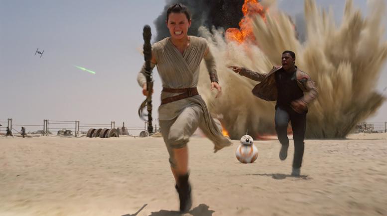 As cenas de treinamento para Star Wars: O Despertar da Força