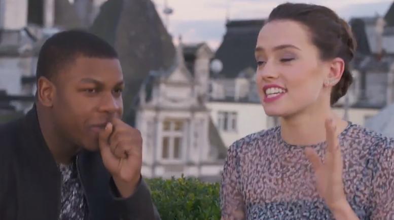 Confira Rey e Finn fazendo um rap