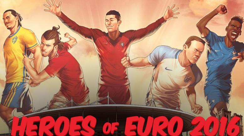 Marvel e Espn criam ilustrações dos principais jogadores de futebol da Eurocopa 2016