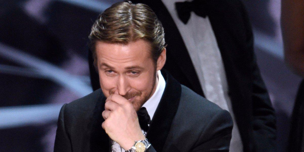 Ryan Gosling explica sua reação durante a gafe do Oscar