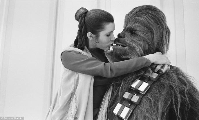 Princesa Leia e o seu verdadeiro amor.