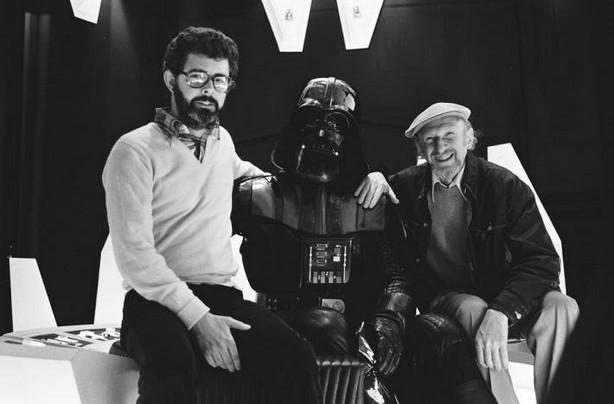 Irvin Kershner e George Lucas indo para o Lado Negro.