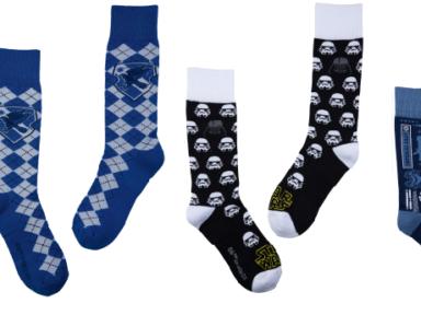 Empresa lança linha de meias inspiradas em Harry Potter e Star Wars